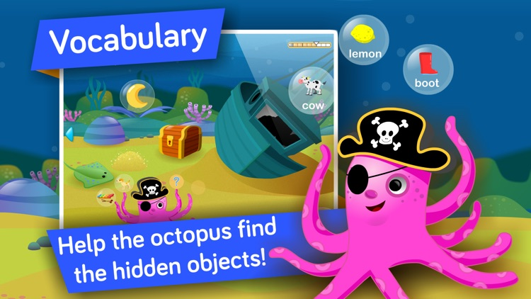 Kids Vocabulary, Grammar & Language learning games