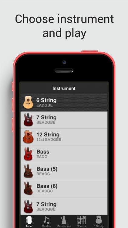 GuitarToolkit - tuner, metronome, chords & scales screenshot-4
