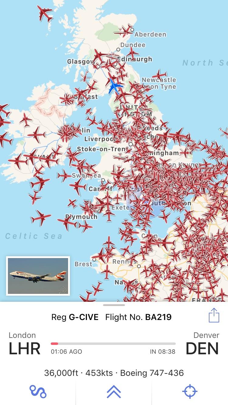 Plane Finder Lite Screenshot