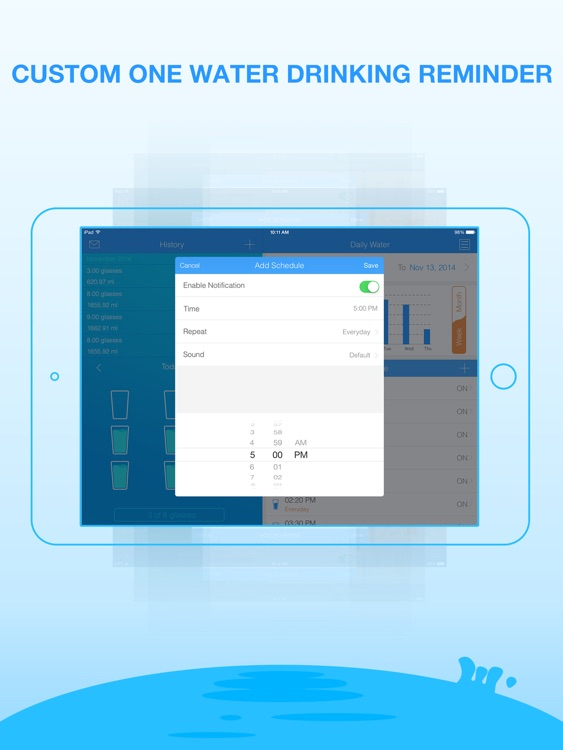 Daily Water Pro for iPad- Water Reminder & Counter