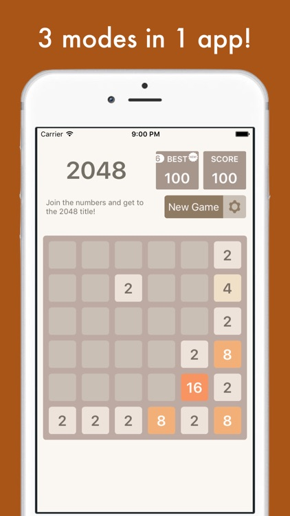 2048 Multi - 8x8, 6x6, 4x4 tiles in one app! screenshot-3