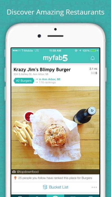 MyFab5 – Find Restaurants, Food Photos and Reviews