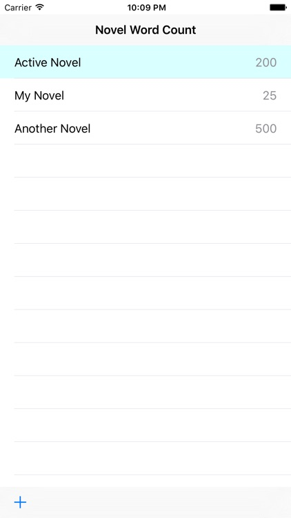 Novel Word Count