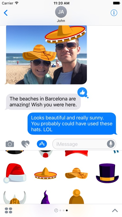 Hat Stickers for iMessage screenshot-3