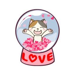 Cat Snow Globe - Animated Stickers