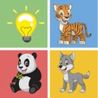 Animals friend pairs matching remember kids games icon