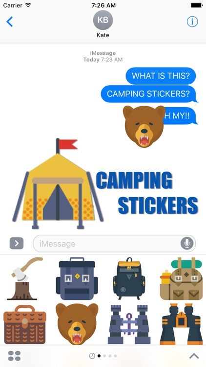 The Camping Stickers