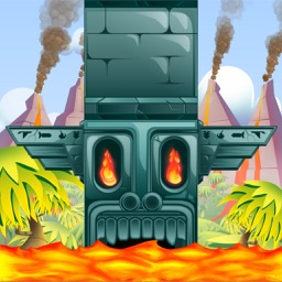 Tappy Tiki - Endless Tower Climber Arcade!   –   Will you face the challenge and escape from the volcano's lava?