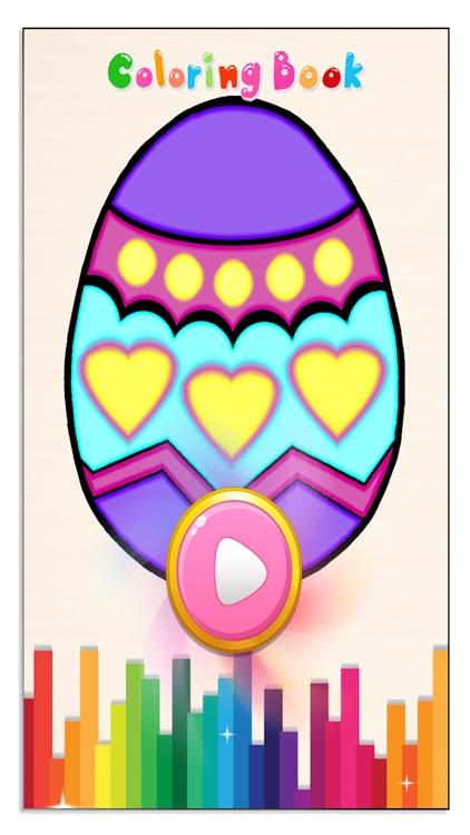 Easter Eggs Kids Coloring Book - Game for Kids screenshot-3