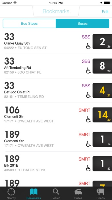 Screenshot for SG Buses - Singapore Bus Guide with Arrival Time in Singapore App Store