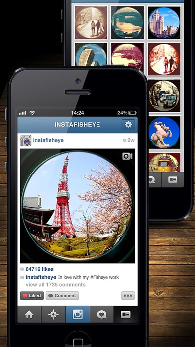 InFisheye - Fisheye Lens for Instagram Скриншоты7