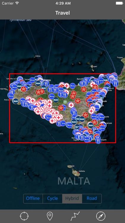 SICILIA (ITALY) – GPS Travel Map Offline Navigator
