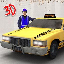 City Taxi Driver 3D - Crazy Cab Driving & Parking