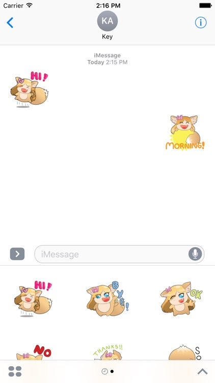Fox Girl Sticker For iMessages screenshot-3