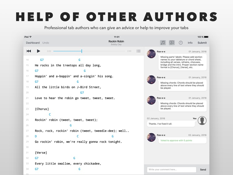 Author - create and edit tabs screenshot-4