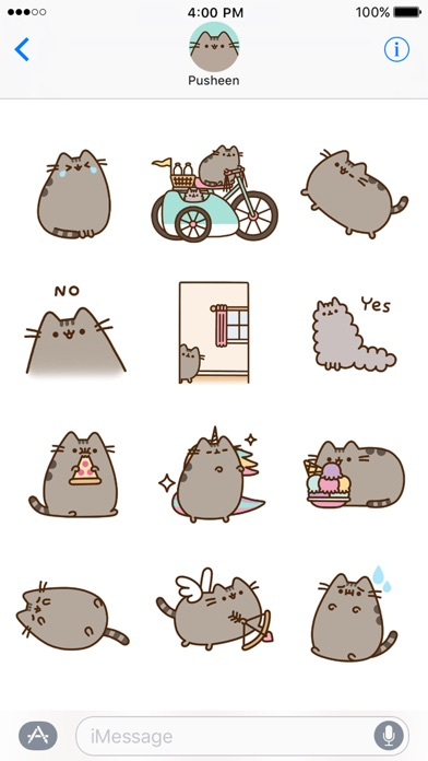 Hands down — Pusheen! The animations are hilarious. My favorite animation  is the one where Pusheen peeks around the corner.
