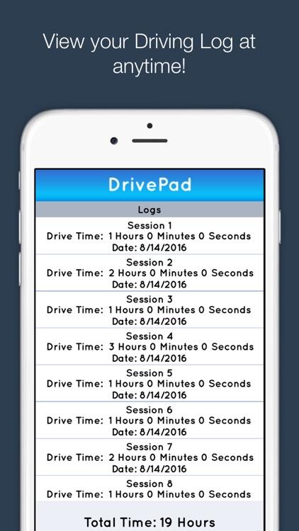 DrivePad Teen Driving Log screenshot-3