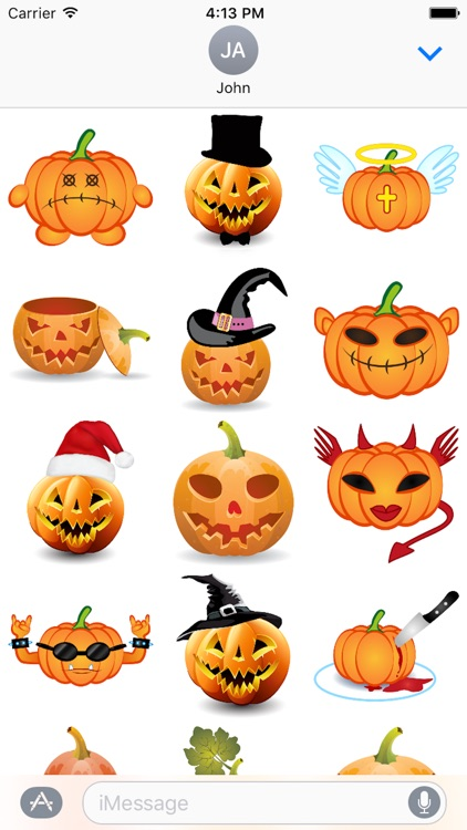 Happy Halloween Pumpkin Sticker Pack 01