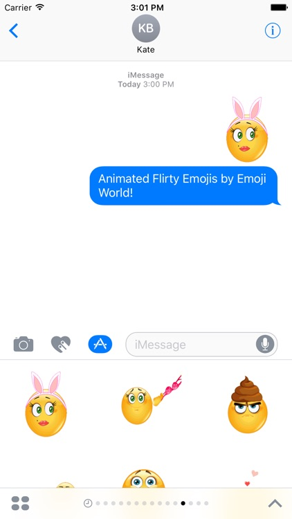 Animated Flirty Emoji Stickers by Emoji World