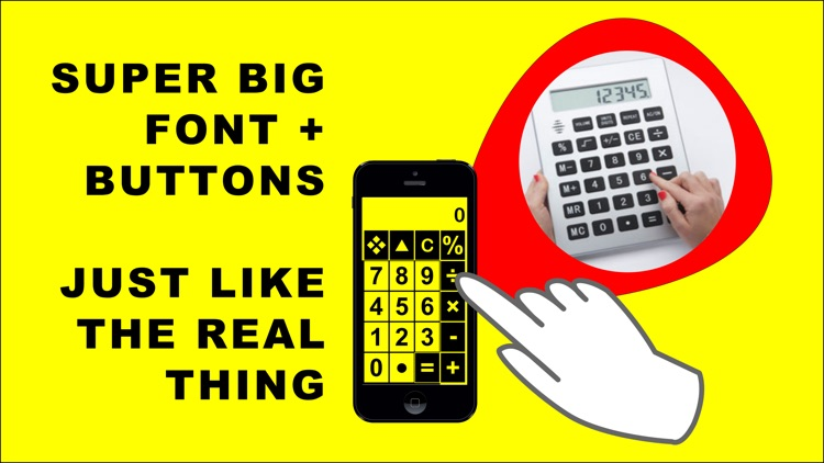 Big Calculator Low Vision screenshot-3