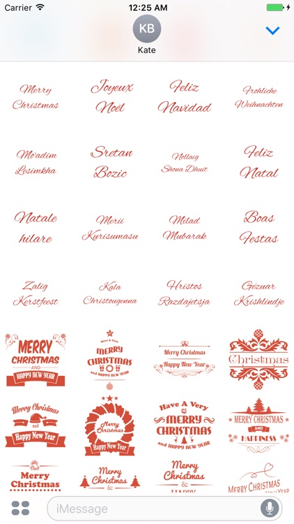 Merry Christmas Stickers Pack for iMessage screenshot-3