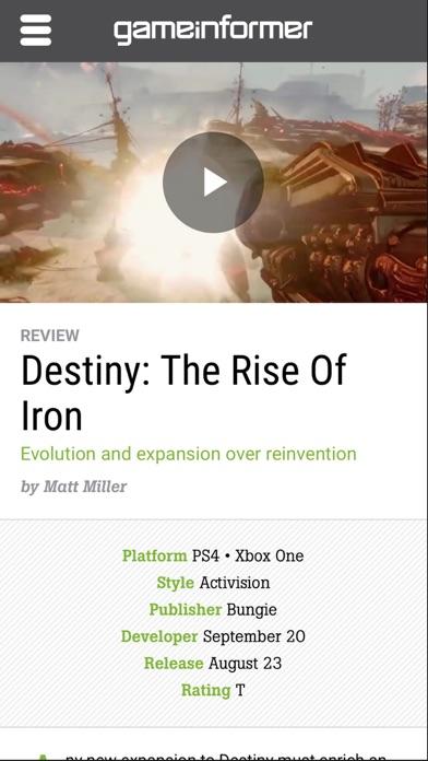 Game Informer review screenshots