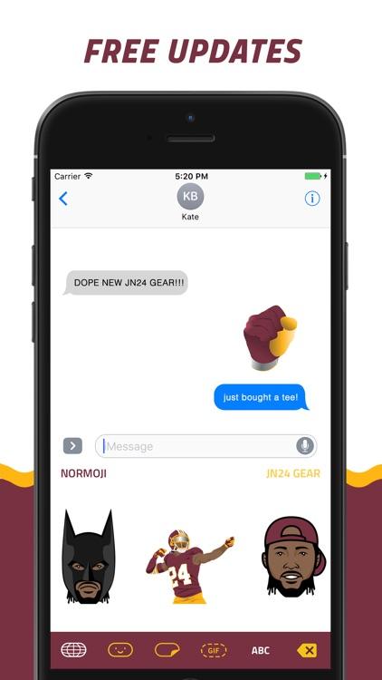 NORMOJI - Official Josh Norman Emoji Keyboard screenshot-4