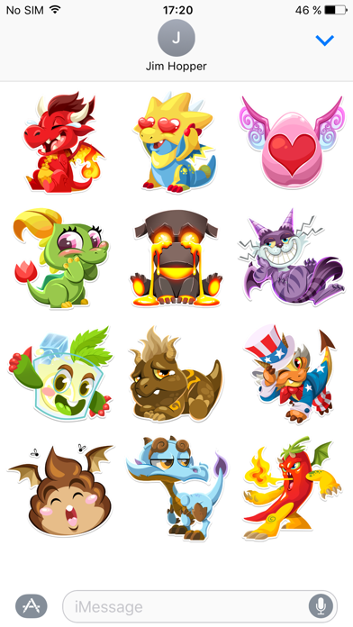 Herunterladen Dragon City Stickers für Android