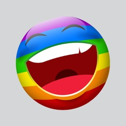 Rainbow Smileys Stickers