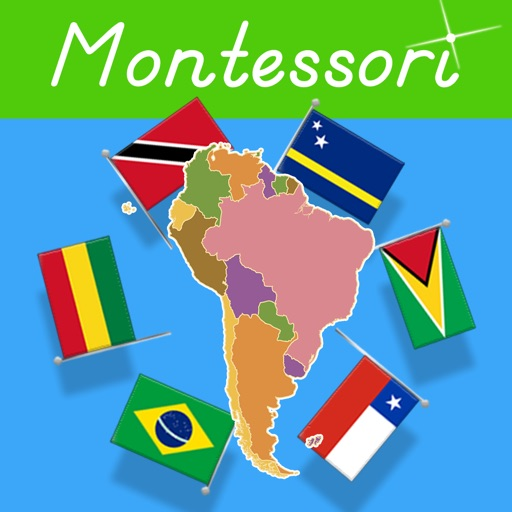 Flags of South America - Montessori Geography