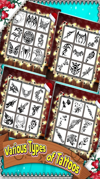 Santa Tattoo Designer Girl - Design & Artist Game screenshot-3