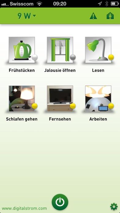 digitalSTROM DashboardScreenshot von 1