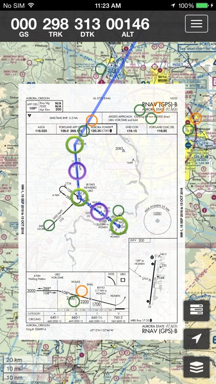 SkyCharts XC EFB geo-referenced plates and charts