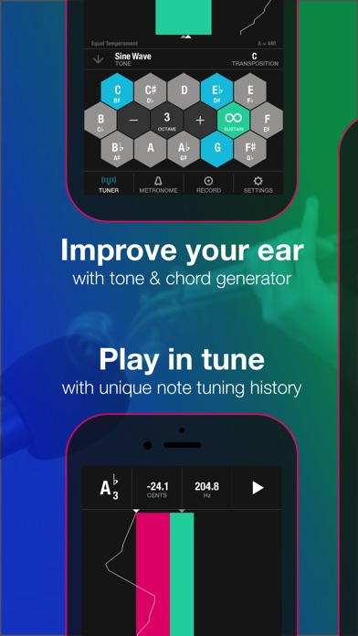 Tunable: Tuner, Metronome, and Recorder Screenshot