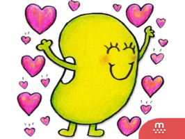 Just Bean Happy: #1 English and Japanese stickers
