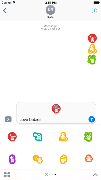 Baby Stickers Pack for iMessage