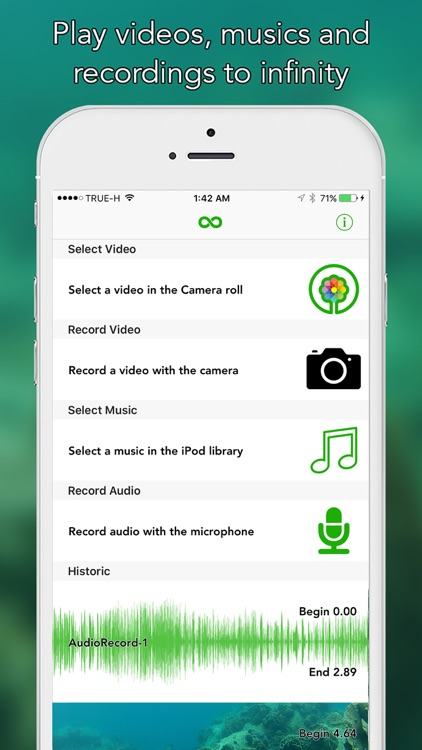 ∞ Play - Play a Video or Music to Infinity