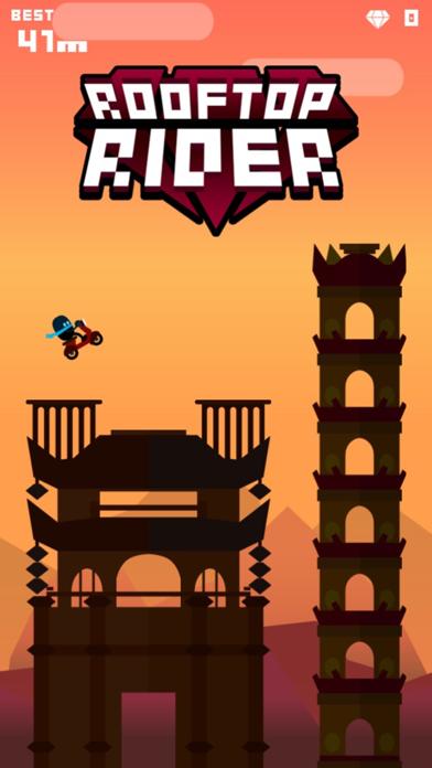Rooftop Rider - Awesome Biking screenshot three