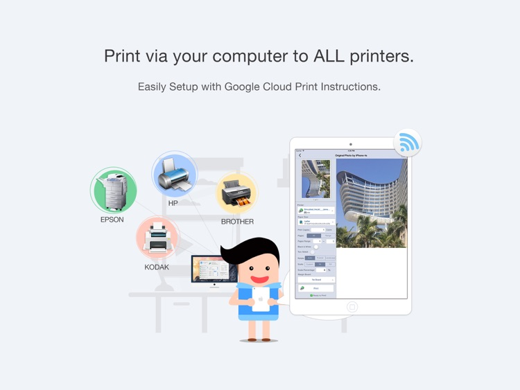Quick Print via Google Cloud Print for iPad screenshot-0