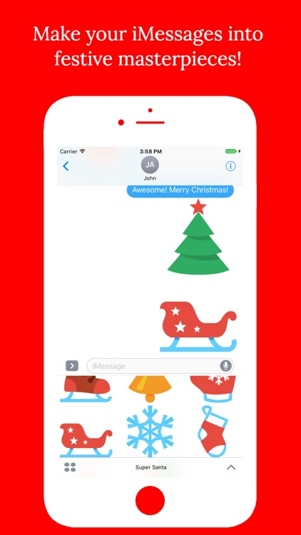 Super Santa - Christmas Stickers for iMessage screenshot-4