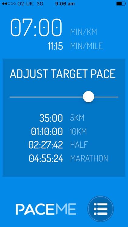 Pace Me Running Calculator