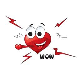 Emotional Heart Emoji Stickers