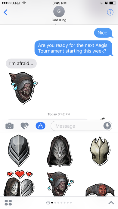 Infinity Blade Stickers Screenshot