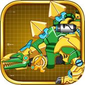 Steel Dino Toy: Mechanic Stegosaurus-2 player game