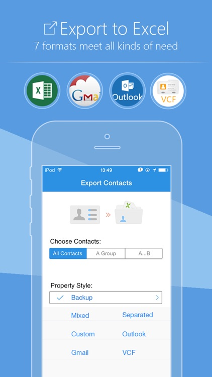 SA Contacts - Export/Import contacts to/from Excel screenshot-0