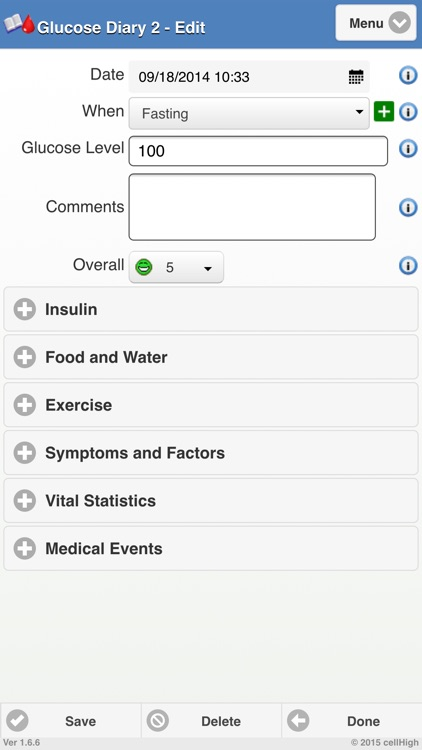 Glucose Diary 2 screenshot-1