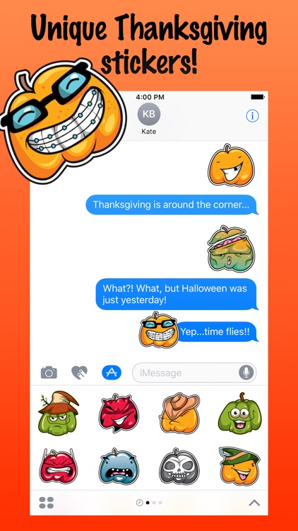 Smiley Pumpkin Stickers