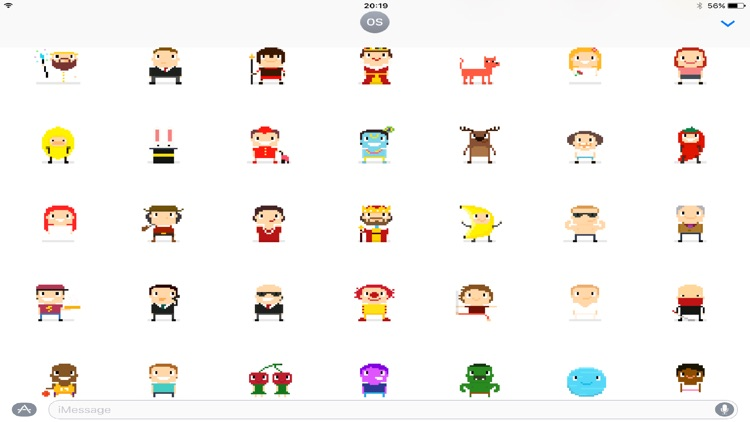 200 Pixel Art Stickers for iMessage screenshot-4