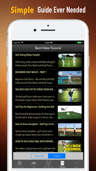 Golf for Beginners-Video Lessons and Reference screenshot two