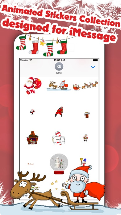 Best Animated Christmas StickersScreenshot von 4